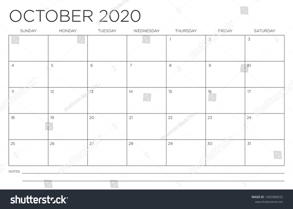 2020 month october calendar fits 11x17 stock image october callander 11x17