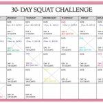 30 Day Squat Challenge Calendar Printable Online Squat Https Www 30 Day Squat Calendar