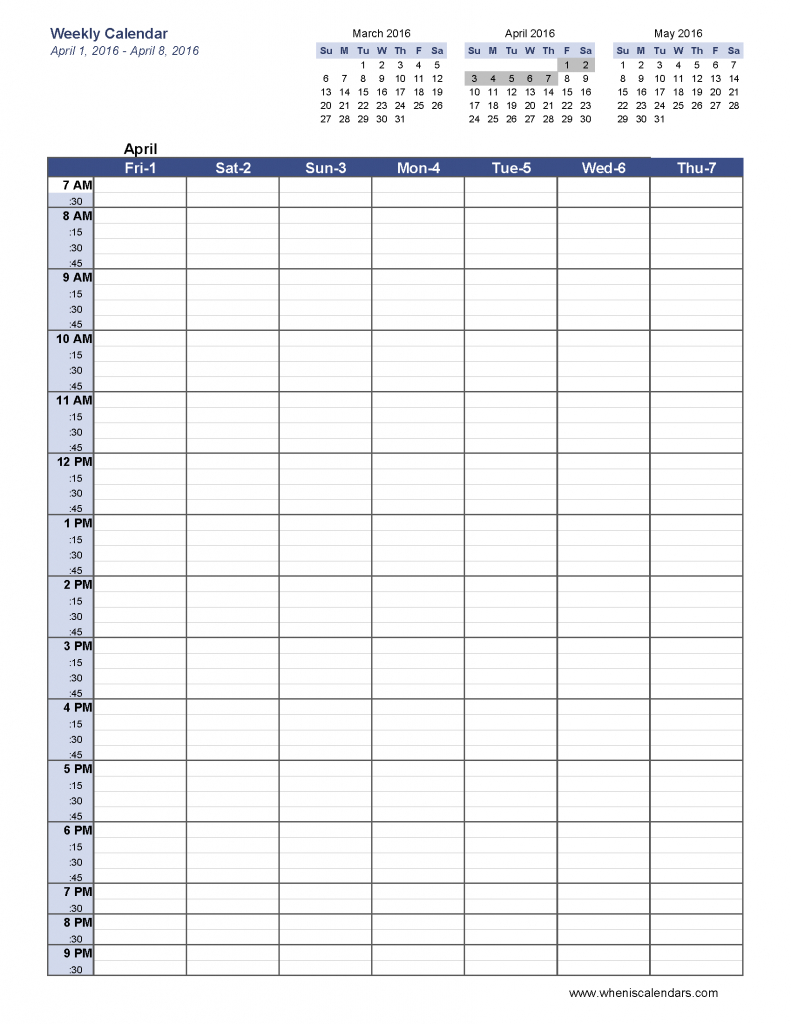 6 Week Blank Schedule Template Weekly Calendar Template Pdf Six Week Meeting Schedule Template