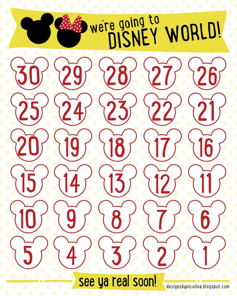 7 best images of disneyland countdown calendar printable free disney countdown calendar printable