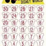 7 Best Images Of Disneyland Countdown Calendar Printable Template Countdown Calendar Disney
