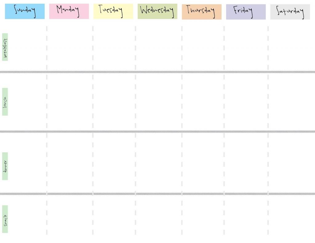 8 Best Images Of Cute Printable Weekly Calendar Printable One Week Calendar