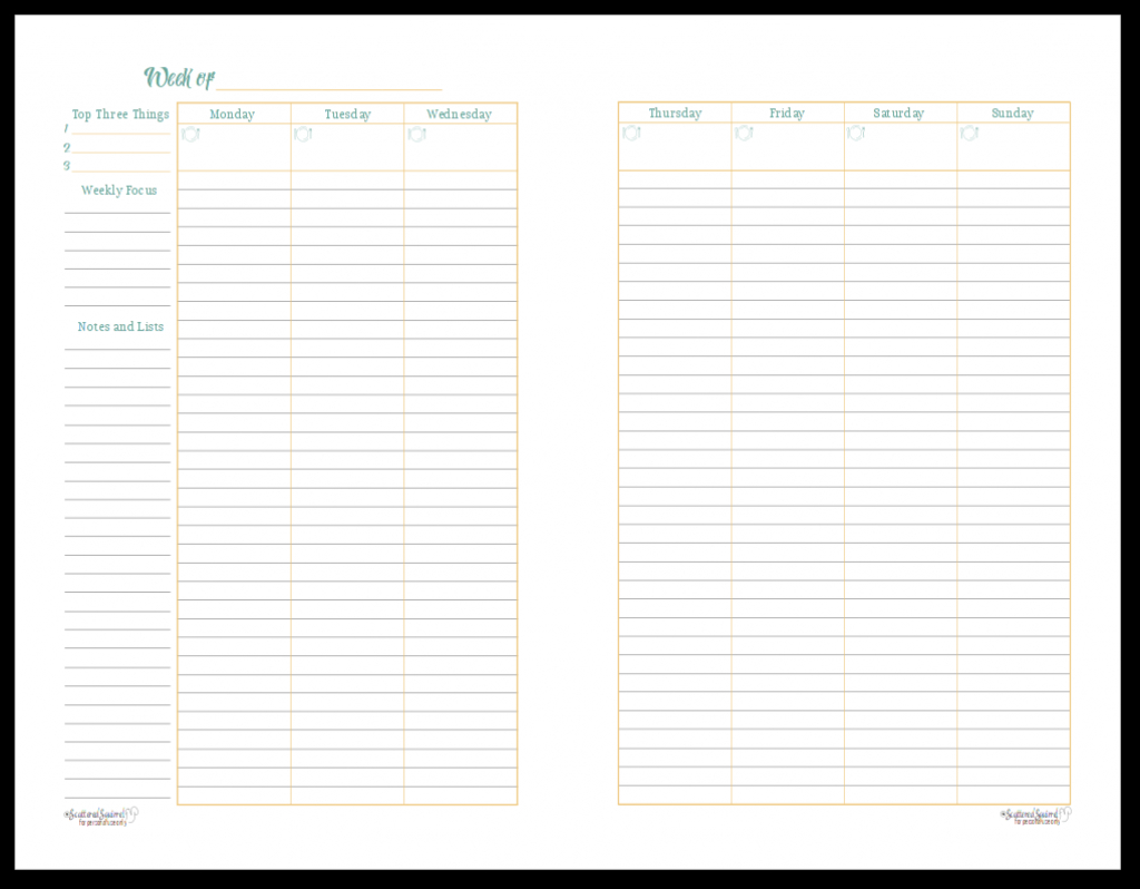 a variety of weekly planner printables for your planners two page planner printable