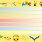 Back To School Vector Weekly Calendar For Kids Planning Vector One Week Calender For Kids