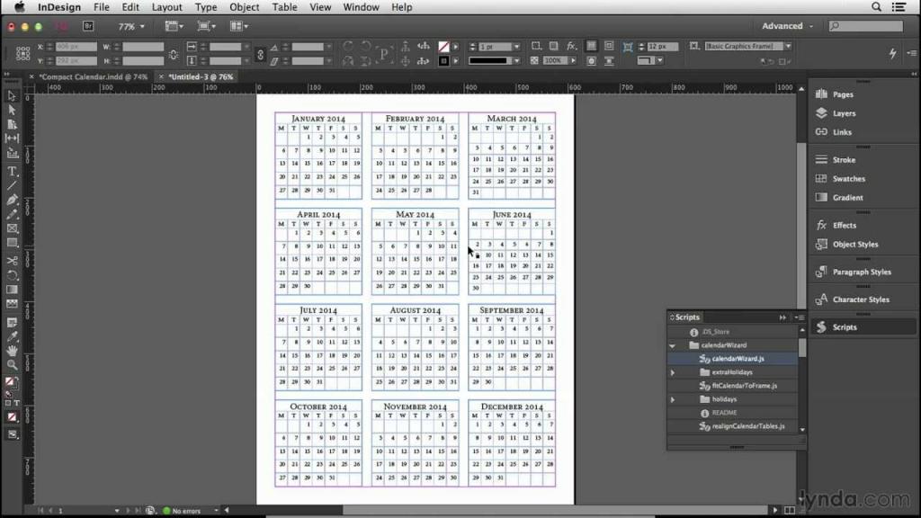 calendar design tutorial making the calendar tables lynda wizard calendars