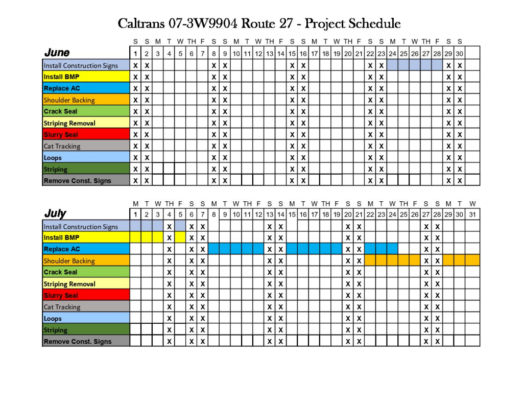 caltrans update on slope mitigation and tcb paving caltrans 7 day calendar