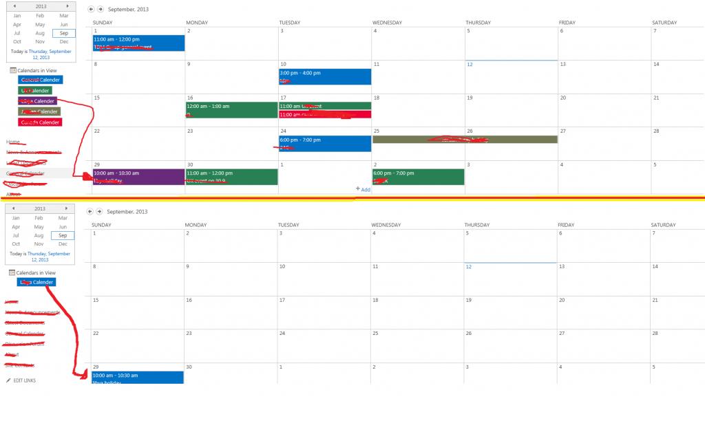 changing the original calendar colour blue to match the sharepoint 2020 calendar color coding