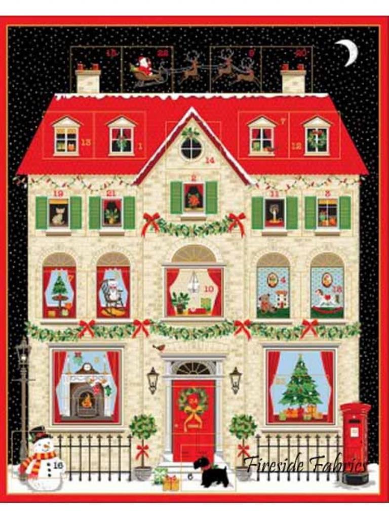 deck the halls house advent panel advent calendar kit christmas vacation advent house kit printable