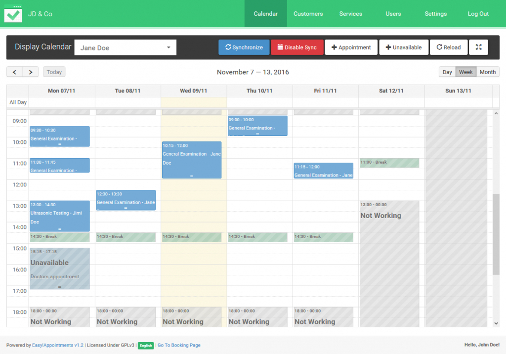 easy appointment scheduling with easyappointments open source calendar template