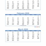 Free Printable 3 Month Calendar 2020 January February March Free Printable 6 Week Calendar 2020