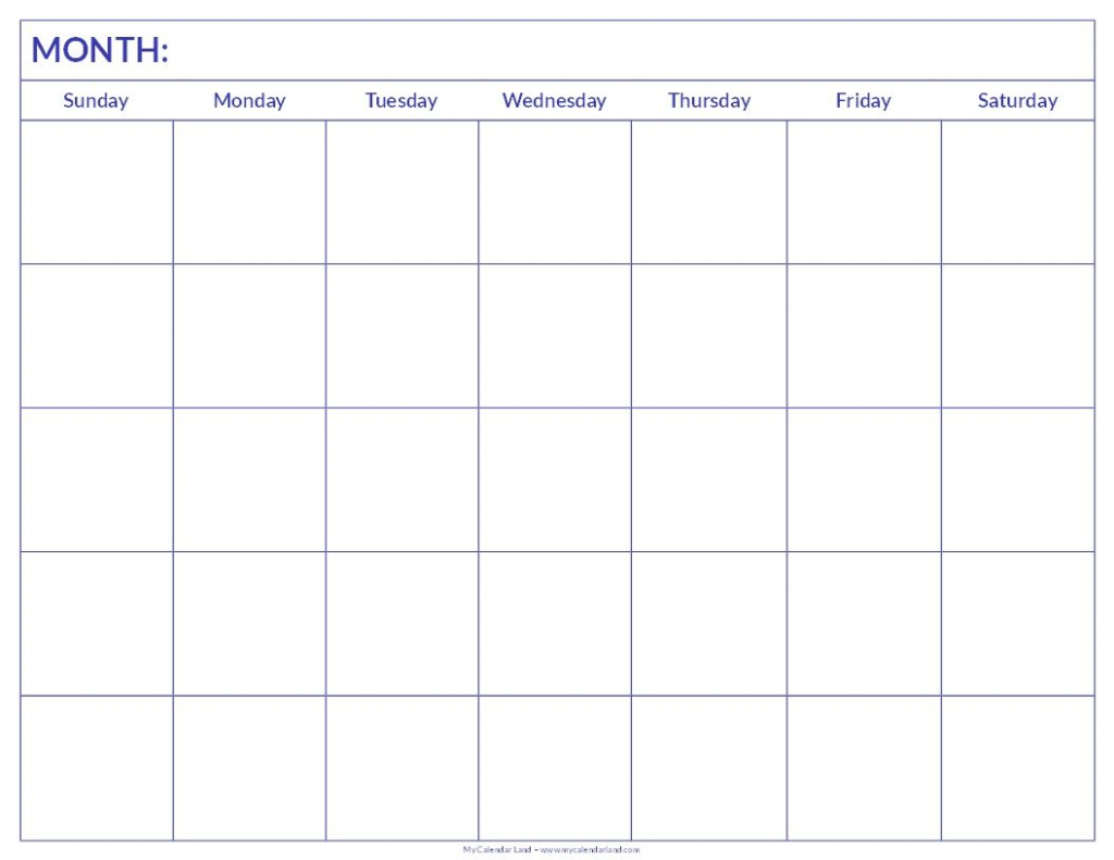 free printable blank monthly calendar student handouts template for a six weeks calendar