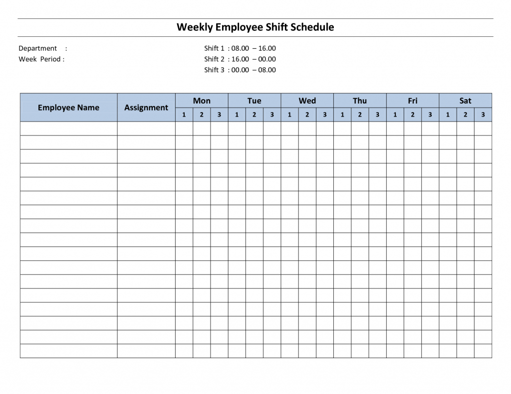 Free Printable Employee Work Schedules Weekly Employee Printable Work Hours Calendar