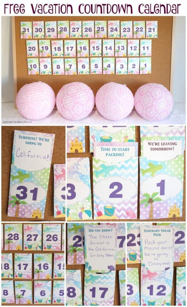 free printable vacation countdown calendar vacation vacation calendar countdown