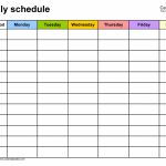 Free Weekly Schedule Templates For Word 18 Templates Template For A Six Weeks Calendar