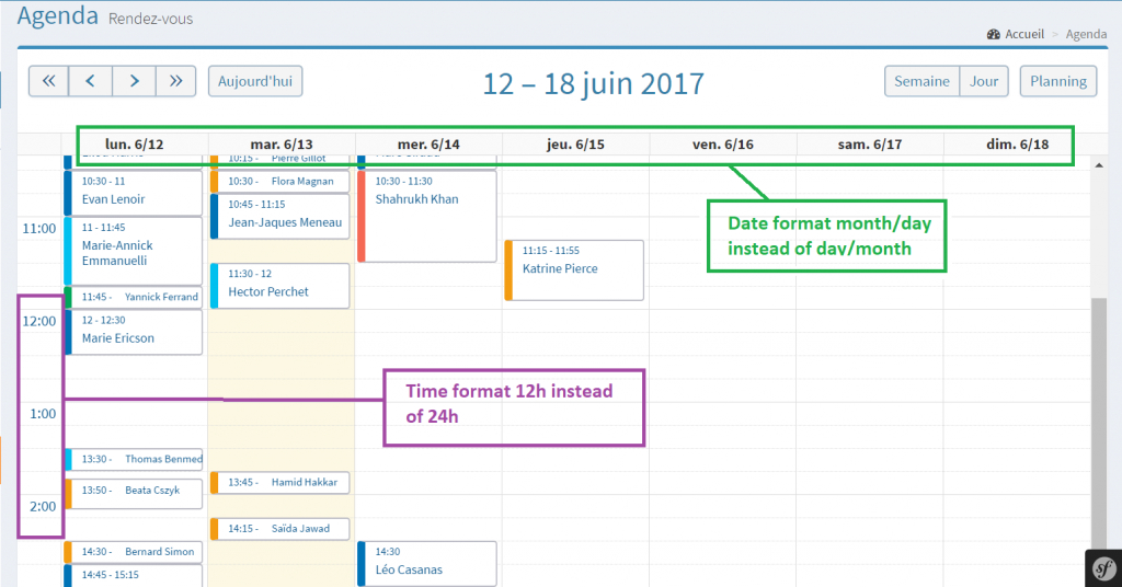 fullcalendar time and date format symfony 30 stack overflow timedate calendar