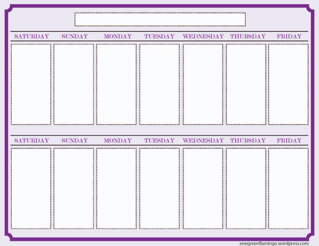 getting organized 2 week planner blank calendar template printable two week schedule