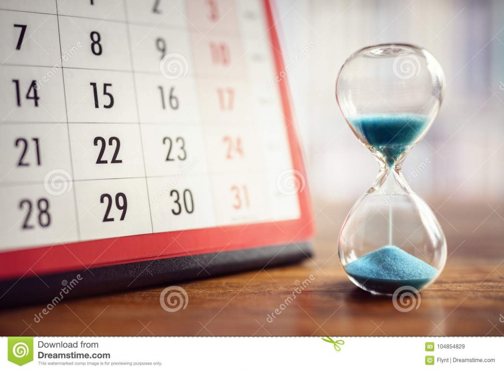 hourglass and calendar stock image image of horizontal y date time calendar achedule