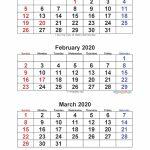 Jan Feb Mar 2020 Calendar 3 Months Per Page Free Printable Free Printable 6 Week Calendar 2020
