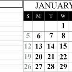 January 2020 Printable Calendar Template 2020calendars Calendar By Waterproof Paper 2020