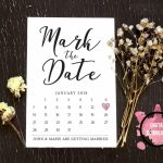Mark The Date Template Download Wedding Save The Date Free Printable Mark Your Calendar Card 1