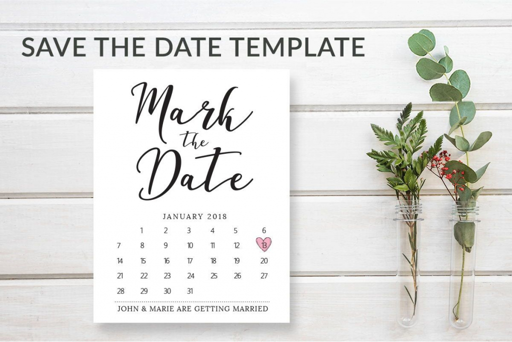 mark the date template download wedding save the date free printable mark your calendar card