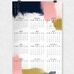 Modern Abstract Wall Calendar 11×17 Wall Calendar 11x 17 Paper 2020 Calendar
