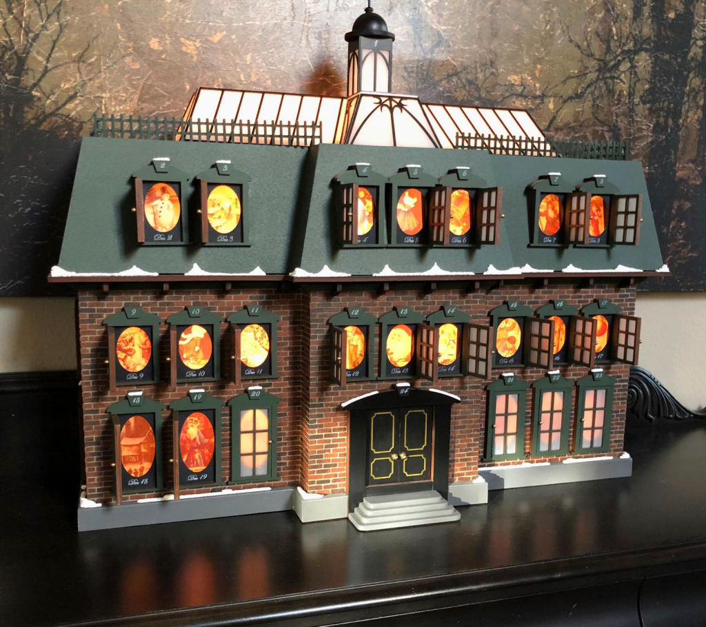 my advent house like the one from christmas vacation christmas vacation advent house