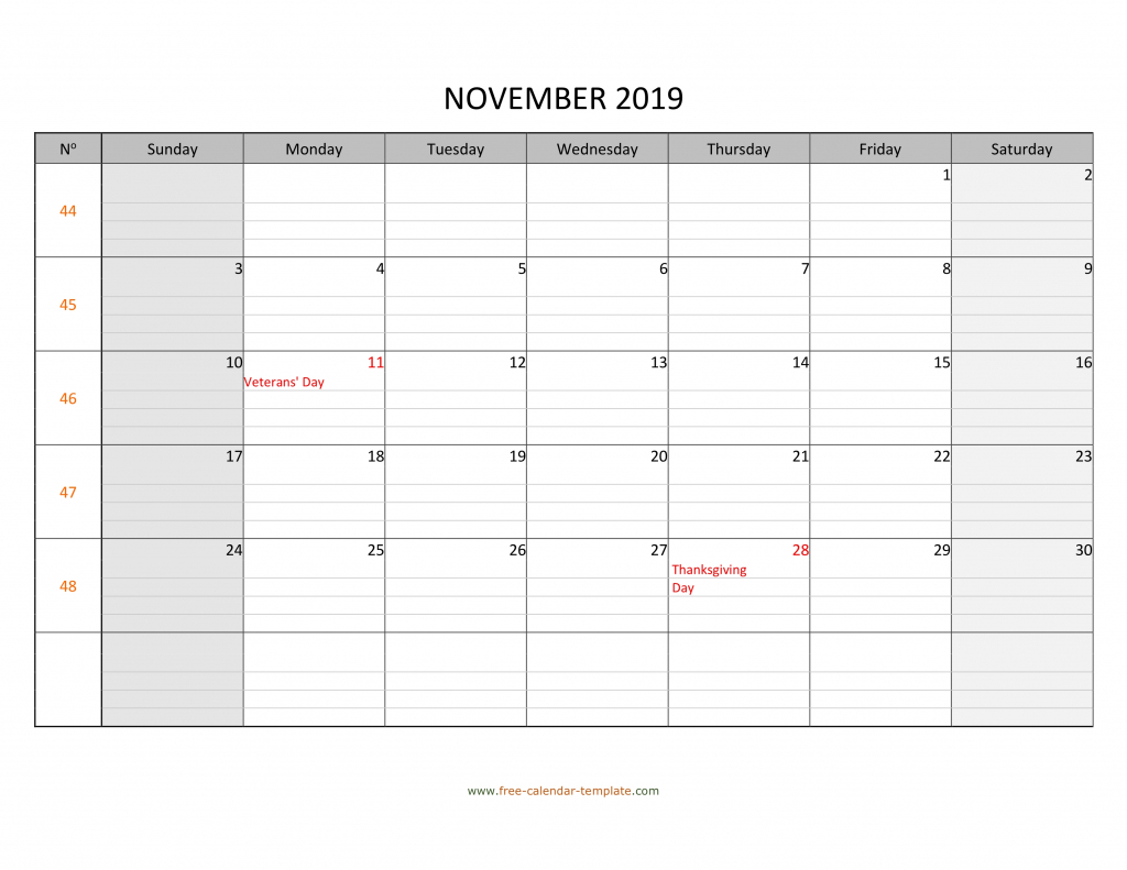 november 2019 calendar free printable with grid lines blank calendar with lines