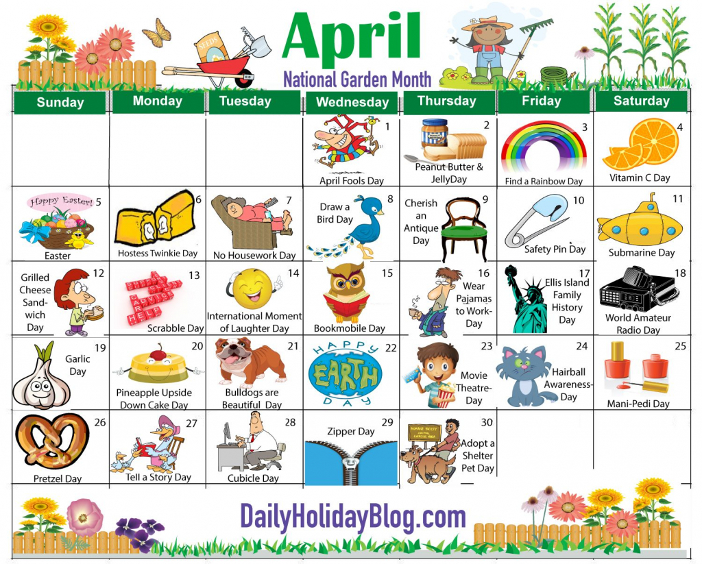 on this site every month you can download or print out an cute calendar weird holidays
