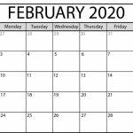 Printable February 2020 Calendar In 2020 Printable Calendar By Waterproof Paper 2020
