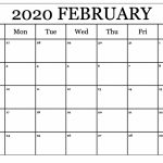 Printable February Calendar For 2020 Waterproof Paper 12 Calendar By Waterproof Paper 2020 1