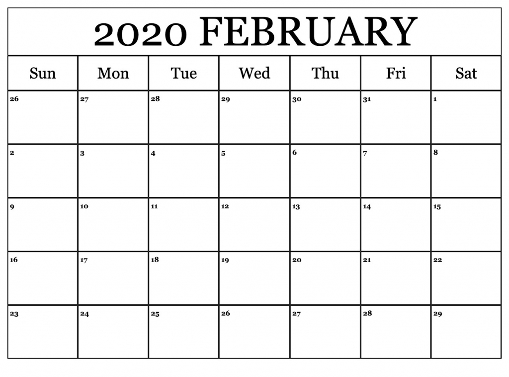 printable february calendar for 2020 waterproof paper 12 calendar by waterproof paper 2020 1