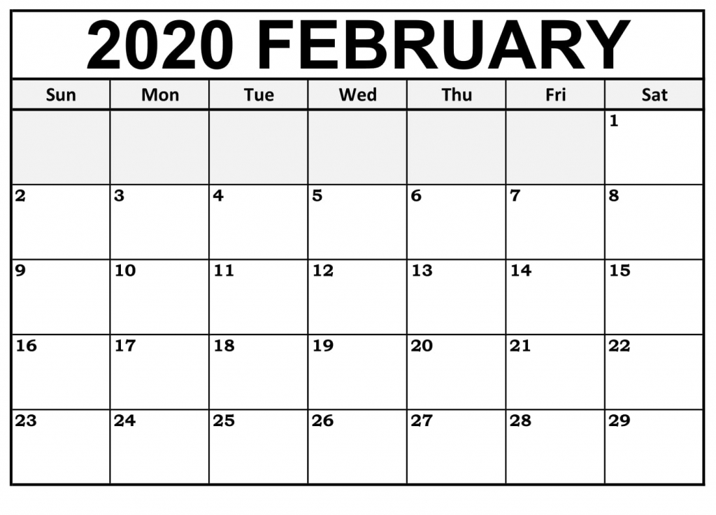 printable february calendar for 2020 waterproof paper 12 calendar by waterproof paper 2020