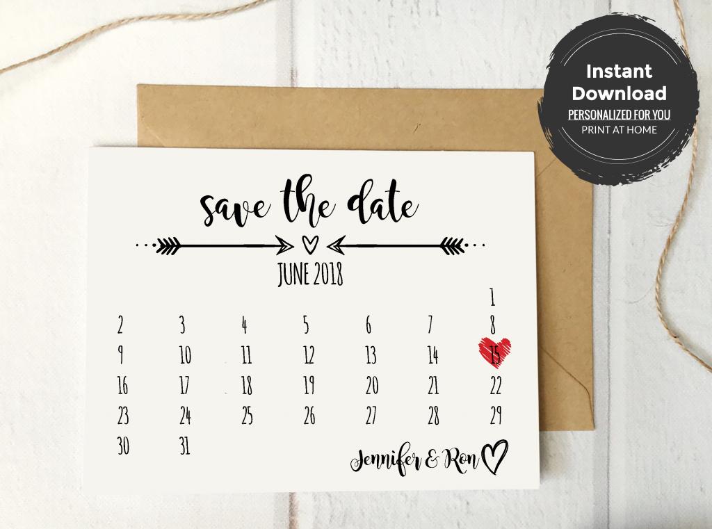 rustic save the date calendar card template save the date free printable mark your calendar card
