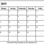 Simple Blank October 2019 Calendar Printable Best Free Left October Callander 11x17