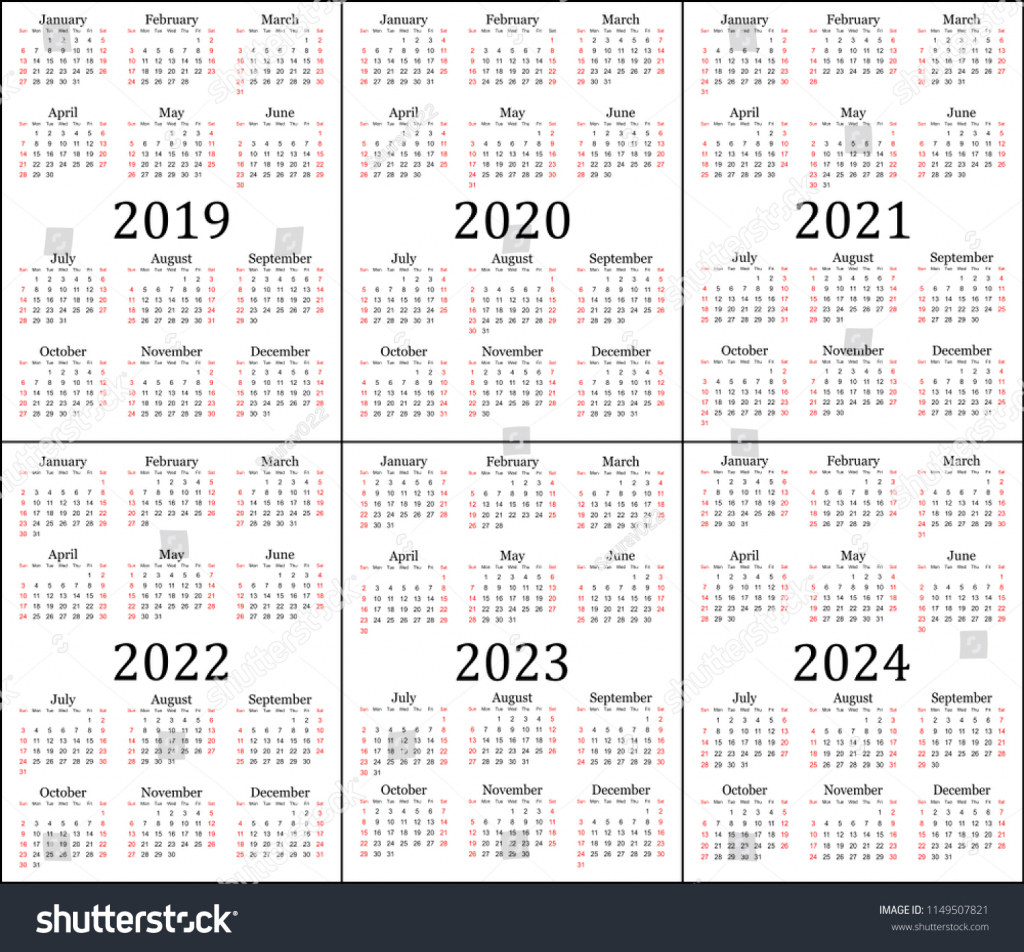 six year calendar 2019 2020 2021 stock image download now calendars for next 5 years