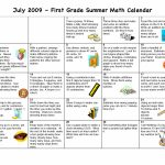 Summer Activity Calendar Math First Grade July Summer July Math Counts Calendar