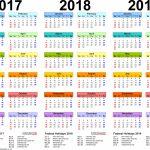 Template 1 Pdf Template For Three Year Calendar 20172018 Free Printable Multi Year Calendar