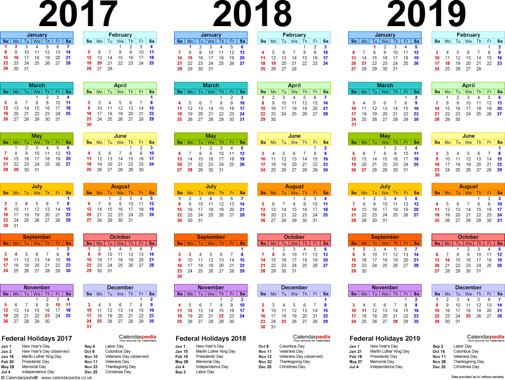 template 1 pdf template for three year calendar 20172018 free printable multi year calendar