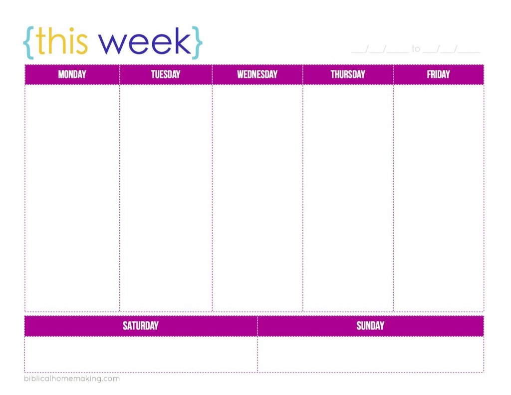 this week cute free weekly planner printable weekly one week calendar