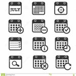 Time Date And Calendar Vector Icons Stock Vector Y Date Time Calendar Achedule