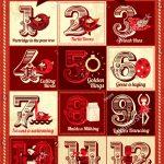 Vintage Twelve Days Christmas Calendar Template Stock Vector 12 Days Of Christmas Advent Calender Template