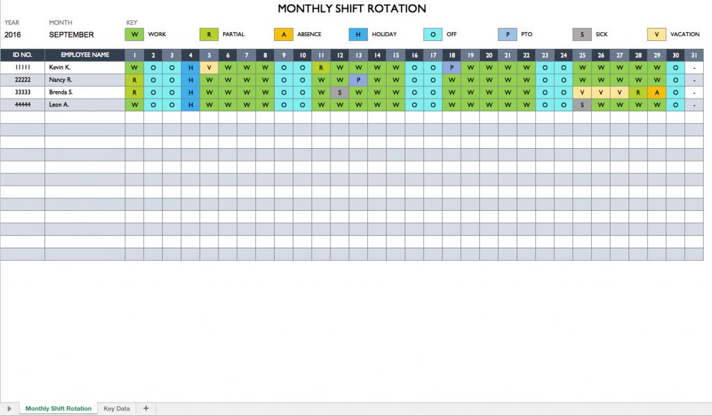 work planner template excel temp orkscheduleshiftrotation printable work hours calendar