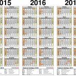2015 2017 Three Year Calendar Free Printable Pdf Templates Five Year Printable Calendar