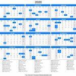 2020 Calendar 2020 Day Count Calander 1