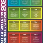 2020 Health Wellness Awareness Calendar Infographic National Food Day Calander 2020