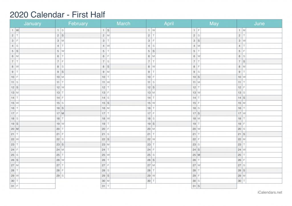 2020 printable calendar pdf or excel icalendars 2020 day count calander