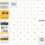 30 Day Printable Calendar Workout Calendar Goal Calendar Printable Next 30 Day Calendar
