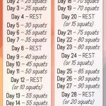 30 Day Squat Challenge Chart Mayota 30 Day Squat Challange Printable
