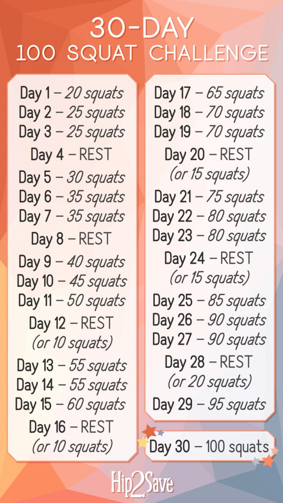 30 day squat challenge printable that are refreshing dans 30 squat challenge printable